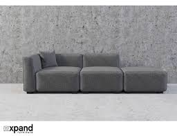 100 Sofa Modern Soft Cube Contemporary 3 Seats
