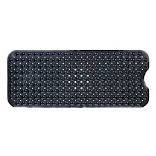 Bathtub Mat No Suction Cups by Slipx Solutions 18 In X 36 In Rubber Bath Mat In Blue 06660 1