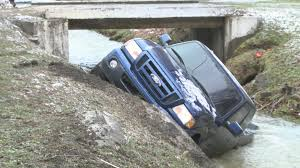 100 Wrecked Truck Twocar Collision Leaves Truck Wrecked In Creek Along Route 40 In