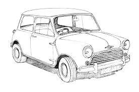 Classic British Car Drawings