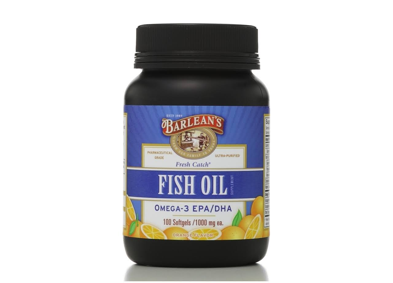 Barleans Fresh Catch Fish Oil, Softgels, Orange Flavor - 100 softgels