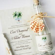 Bottle Wedding Invitations Beach Theme