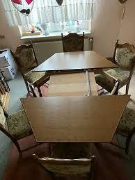 esszimmer eiche rustikal tischgruppe mit 6 stühlen