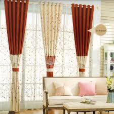 rideaux chambres à coucher beau décoratif floral orange beige clair chambre à coucher