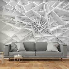 vlies fototapete 3d effekt abstrakt grau tapete 3d