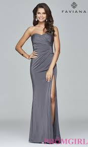 long sweetheart faviana evening gown promgirl