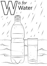 Click To See Printable Version Of Letter W Is For Water Coloring Page