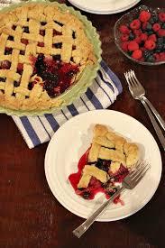 Raspberry Blueberry Pie recipe RecipeGirl