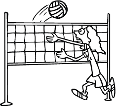 Volleyball Coloring Pages Free Printable For Kids Download