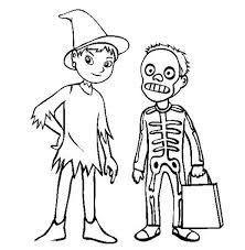 Awesome Halloween Costume Coloring Pages Printable Kids