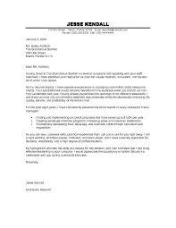 Sample Restaurant Management Cover Letter Hospitality
