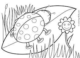Spring Coloring Pages Free Printable Kinder Preschool