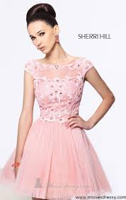 pink glittering party dresses by sherri hill prom dresses cheap