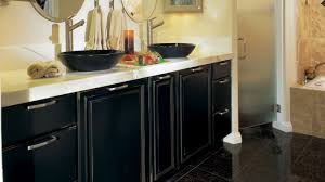 black bathroom cabinets with distressing omega