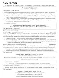 Respiratory Therapist Resume Templates Physical Therapist Physical