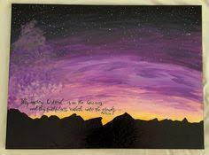 Items Similar To Psalm Painting Christian Wall Art Scritpture Purple Sunrise Inspirational Bible Quote On Etsy