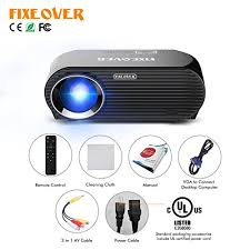 Fixeover GP100UP Projector Android 6 01os Smart WiFi Wireless Projection Youtube line Video Phone To Projector By Bluetooth Easy Connect To Speaker