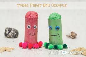 Toilet Paper Roll Octopus Craft For Kids