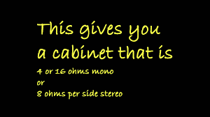 2x10 Bass Cabinet 4 Ohms by How To Proper Wiring Of A 4x12 Mono Stereo Guitar Cabinet Youtube