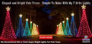 Diy Christmas Tree Flagpole Lights