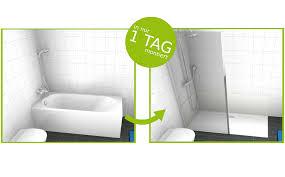 barrierefreier umbau badewanne zur dusche in 8 stunden