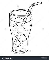 Glass Cool Water Ice Cartoon Vector Stock Vector