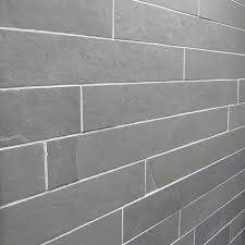 Brazilian Grey Riven Slate Wall Strips 600x60 Natural Stone Tiles