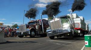 Mechanical Engineering - Why Do Drag Race Semi Trucks Slant To One ...