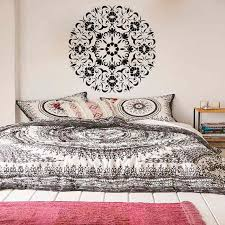Mandala Wall Art Decals Indian Pattern Yoga Oum Om Sign Decal Vinyl Stickers Home Decor Murals