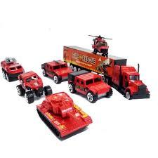 100 Fire Trucks Toys Mini Die Cast Metal 7 Pcs Emergency Rescue Vehicle