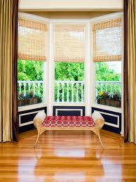 Choose Organic Textural Shades And Blinds Bay Window Sitting
