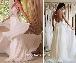 aliexpress com buy lace backless chiffon wedding dress open back