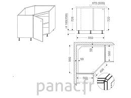 meuble bas d angle cuisine meuble d angle de cuisine caisson bas angle pan coup 95 x 95 cm