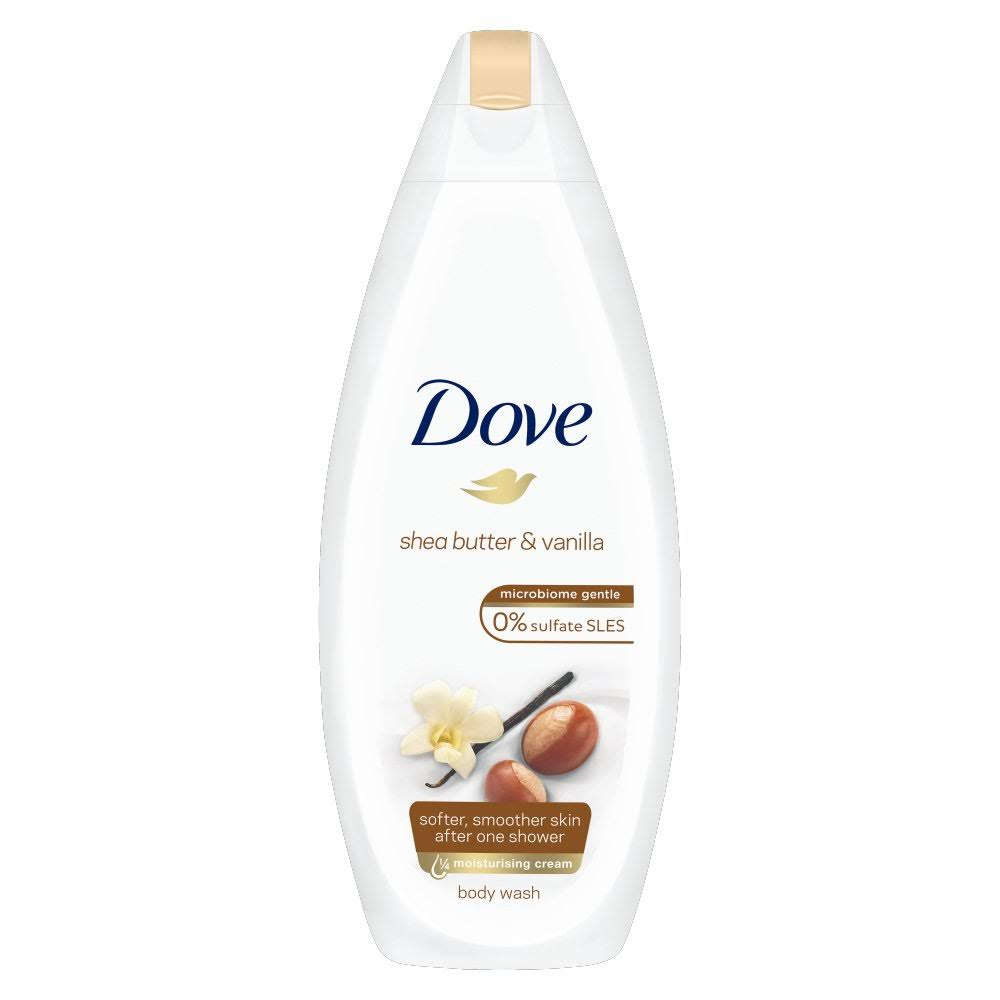 Dove Body Wash - Shea Butter & Vanilla, 225ml