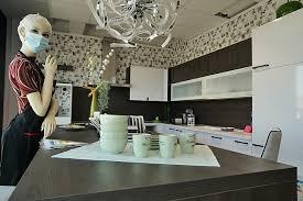 pronorm musterküche große küche mit insel inkl barhocker
