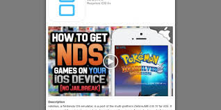 You Can Install Nintendo DS Emulator nds4ios Right Now Without