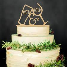 Wood Wedding Cake Topper Rustic Vintage Country Themes Mr Mrs