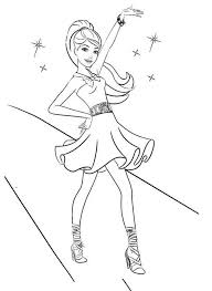 Barbie Mariposa Dancing Coloring Pages