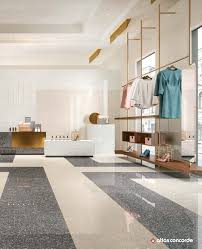 Terrazzo Inspired Porcelain Tiles For Elegant Exhibition Areas And From Flooring Modern Bathroom