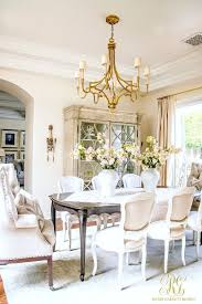 Glam Transitional Dining Room Reveal Scheme Of Table Chandelier