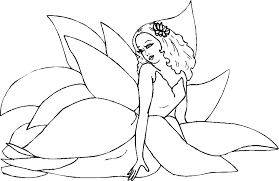 Fairy Colouring Pages Page 3