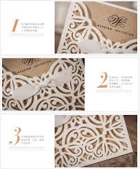 Rustic Laser Cut Lace Pocket Wedding Invitations Card Birthday Engagement Invitation Cards Party Kits100PCS In From Home Garden On