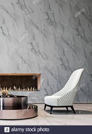 luxus weißen marmor mock up wand mit getuftete weißen