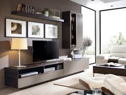 Modern Wall Storage System With Sideboard Glass Display Cabinet And TV Unit