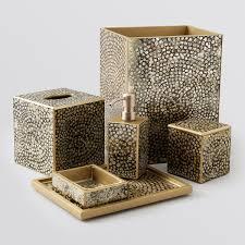 Crackle Glass Bathroom Set by Waylande Gregory Metallic Mosaic Bath Accessories Bloomingdale U0027s