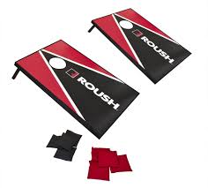 Roush Performance Portable Wooden Corn Hole Boards Bean Bag Toss Game
