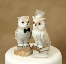 Charming Decoration Owl Wedding Cake Toppers Attractive Design