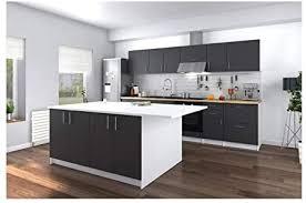 obi küchenilot mit arbeitsplatte 160 cm weiß und grau matt