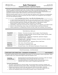 Writing A Technical Resume Profile Examples