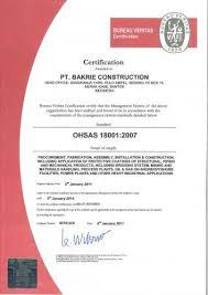 bureau veritas holdings inc bakrie construction pt